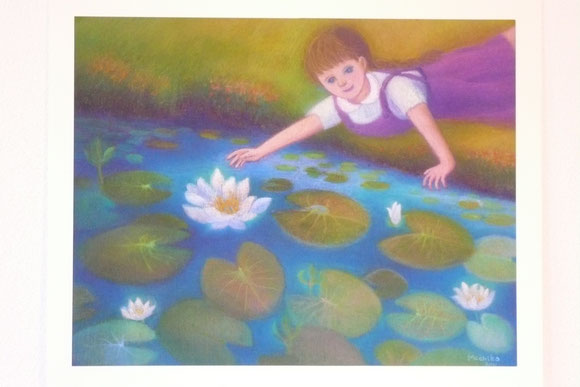 Flora and water-lilies 42.5cmx52.5cm (sold)