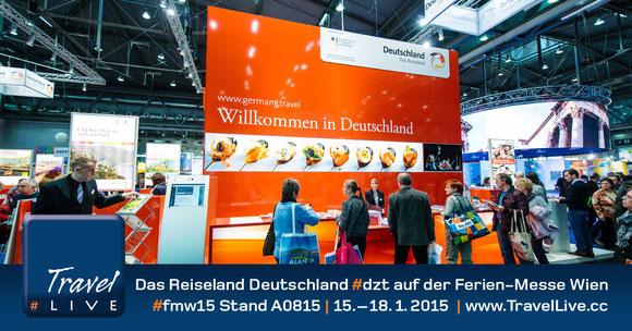 Das Reiseland Deutschland #dzt auf der Ferien-Messe Wien #fmw15 Stand A0815