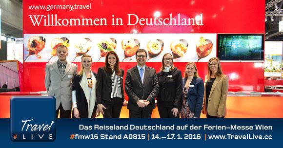 Das Reiseland Deutschland auf der Ferien-Messe Wien #fmw16 Stand A0815