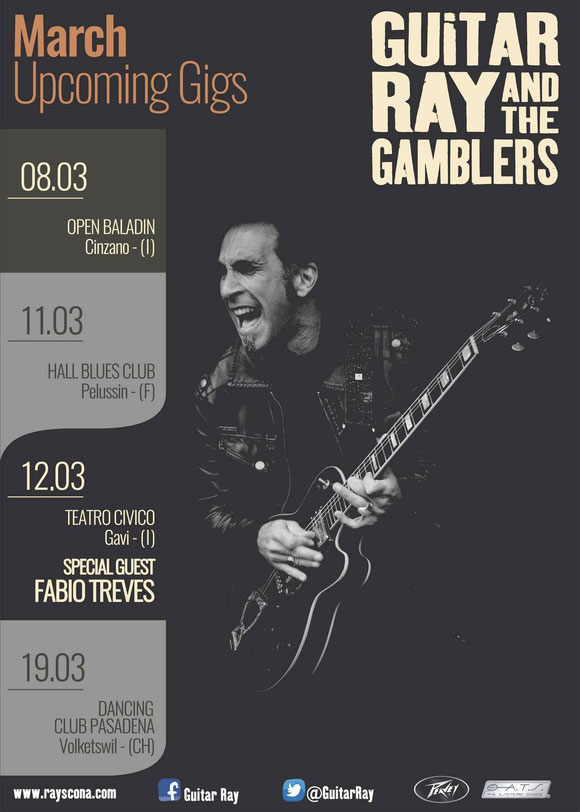Guitar Ray & The Gamblers - 03/2016