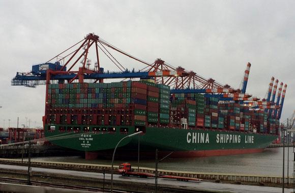 Foto: © Friedhelm - Die CSCL Globe im Januar 2015 in Hamburg