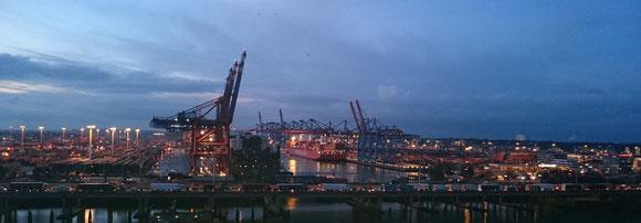 Foto: © Friedhelm - Hafen Hamburg bei Nacht ...