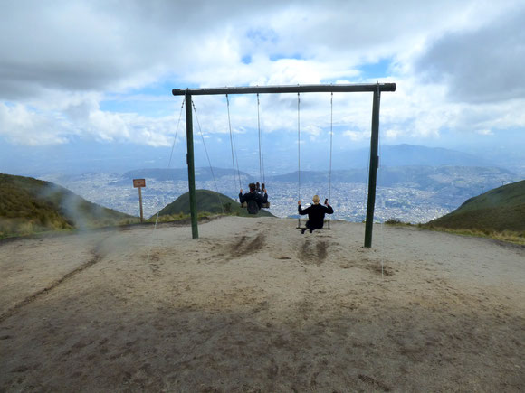 Ecuador - Schaukel in 4100 Meter Höhe