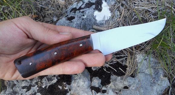 Poignard - Loupe de bois de fer d'Arizona