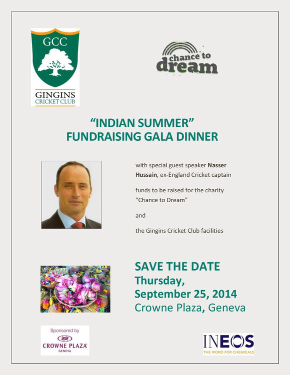 Save the date - Gingins Gala Dinner