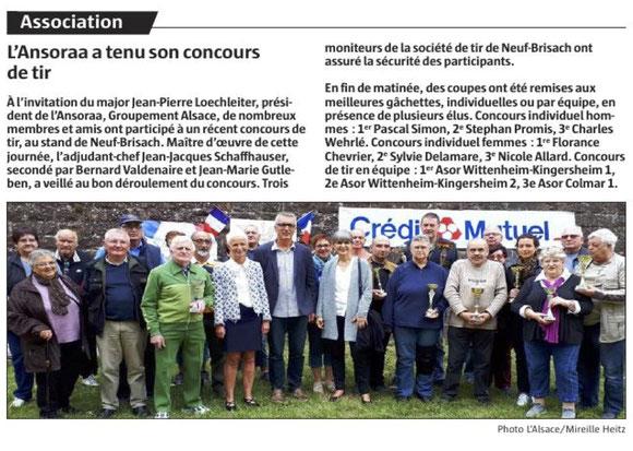 Journal l'Alsace du 11/10/2017