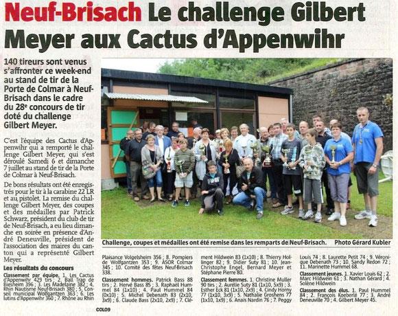 Neuf Brisach - Challenge Gilbert MEYER 2013