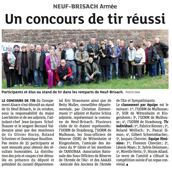 Article DNA du MARDI 27 OCTOBRE 2015