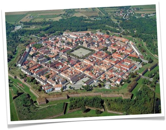 Vue aérienne de Neuf Brisach