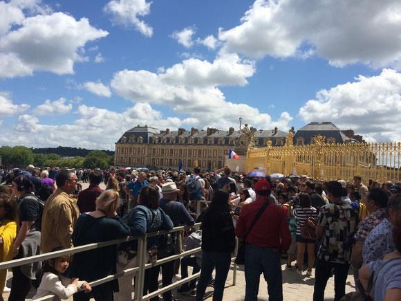 Versailles foule