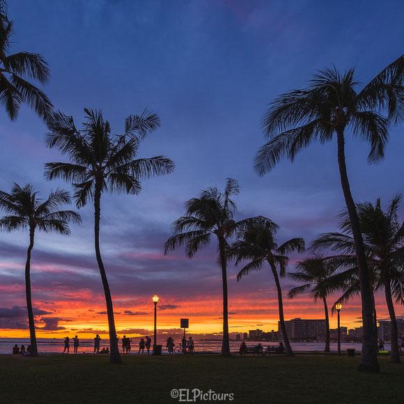 Queens beach, Waikiki, Honolulu, Oahu, Hawaii