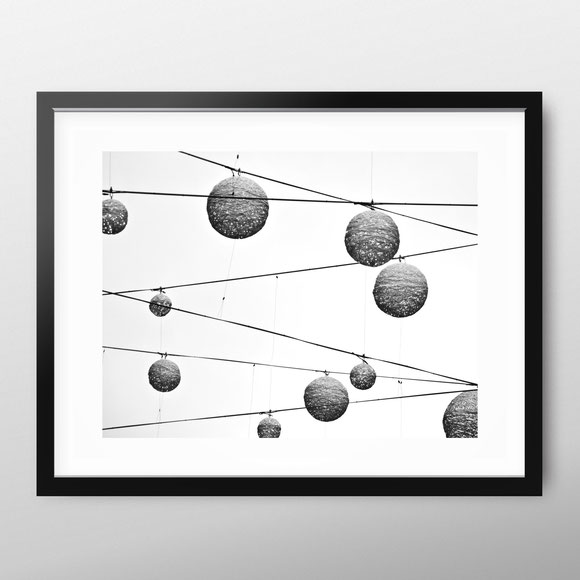 Minimal Art Print 'Light Balls' by PASiNGA