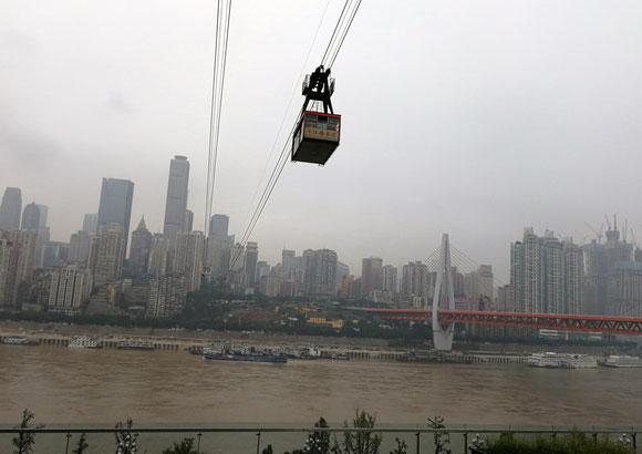 In der Gondel über den Yangtse