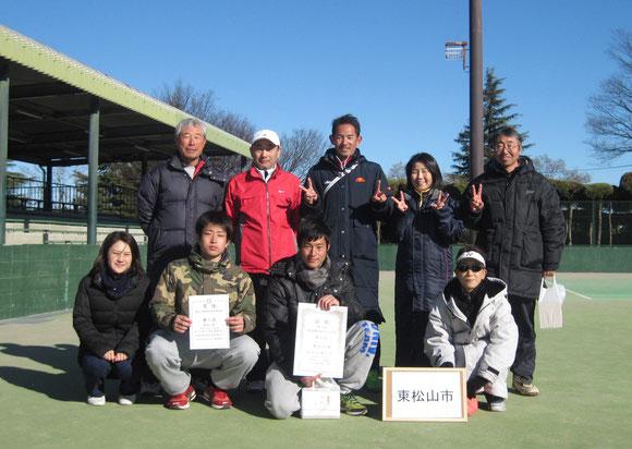 1月24日、埼玉県都市対抗戦、準決勝戦のメンバー→4位でした