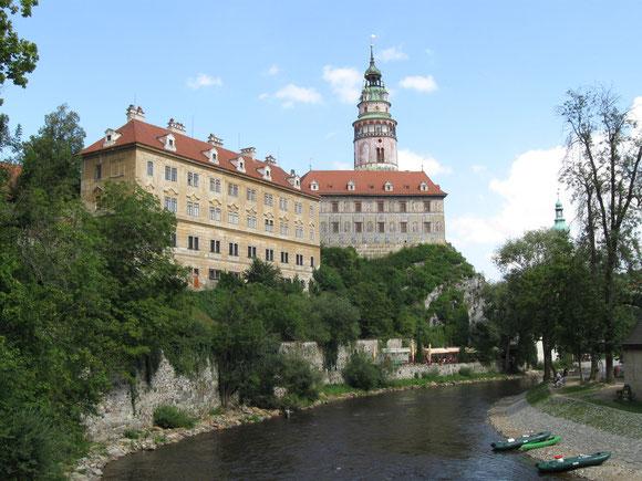 Moldau und Schloss Krummau