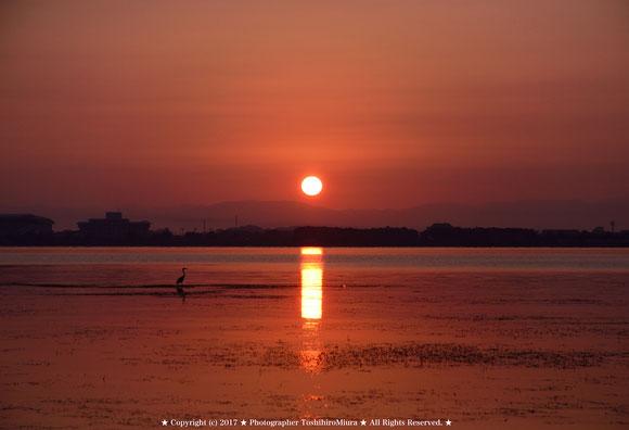 琵琶湖の夜明けの時 Photographer ToshihiroMiura