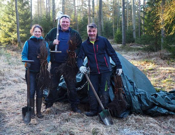 eigentlich wollten wir wilde Wölfe fotografieren, doch dann kamen die putzigen Pflanzelfen aus dem Wald...