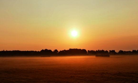 zarter Hauch von Orange liegt in der Morgenluft
