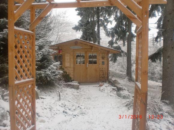 Bei meinem Häuserl ists auch winterlich geworden