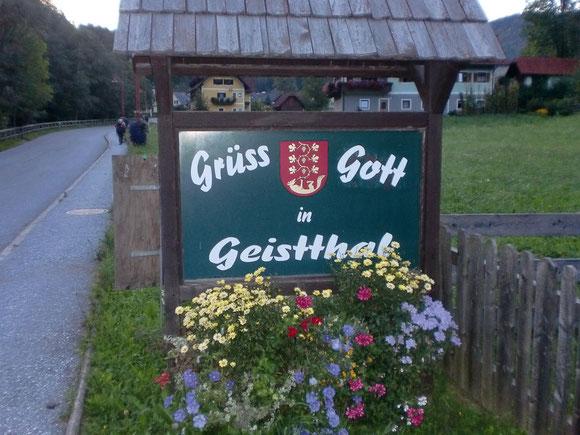 Ankunft in Geistthal