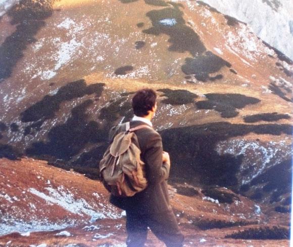 Am Widkammsteig 1985. Wir sind fasziniert von dieser heroischen Bergwelt