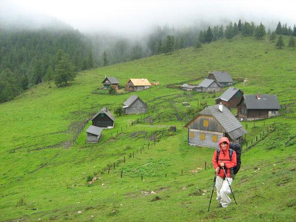 Im Gegensatz zu den vielen Schönwetterfotos gibt es dann das Mariazell gehen 2007. Auf der Göriacheralm hängt schon der Nebel herein
