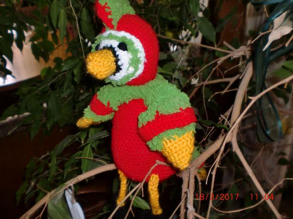 und ein bunter Papagei