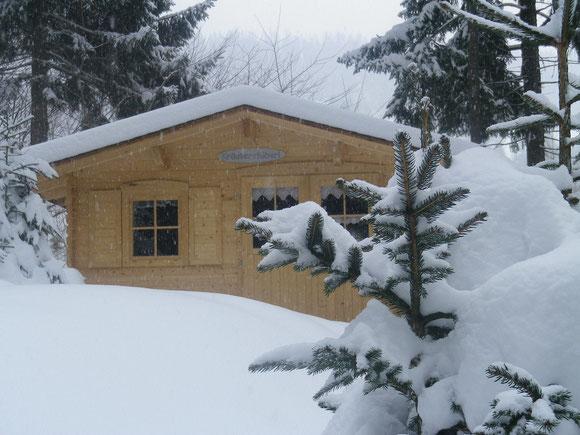 Mein Kräuterhäuserl im Winter