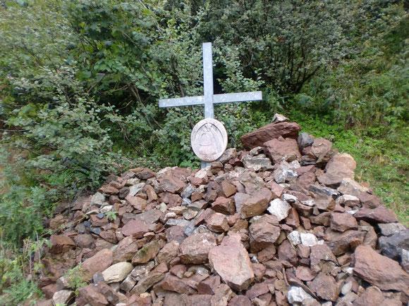 Wir legen unsren Stein auch hier ab.Rotsohlalm 2013