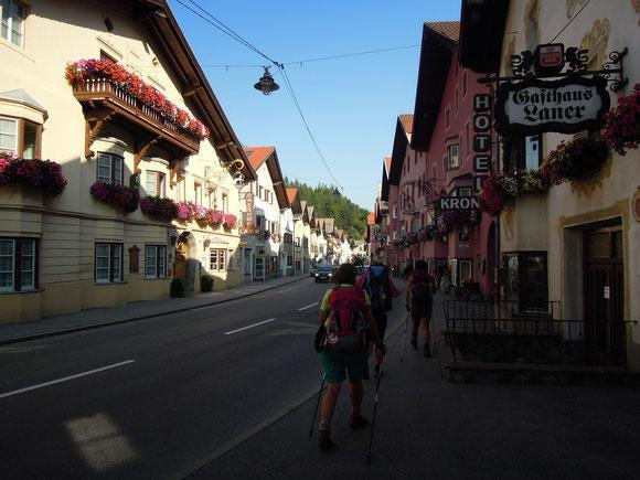 Das hat sich noch schön gezogen bis wir nach 32 km Tagesmarsch ein Quatier in Steinach beziehen konnten. Jetzt sind wir schon auf dem Weg in Riichtung Innsbruck am letzten Tag der diesjährigen Etappe