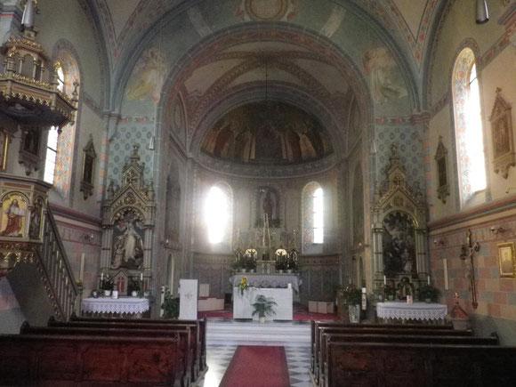 Hochaltar der gotischen Pfarrkirche in Franzensfeste