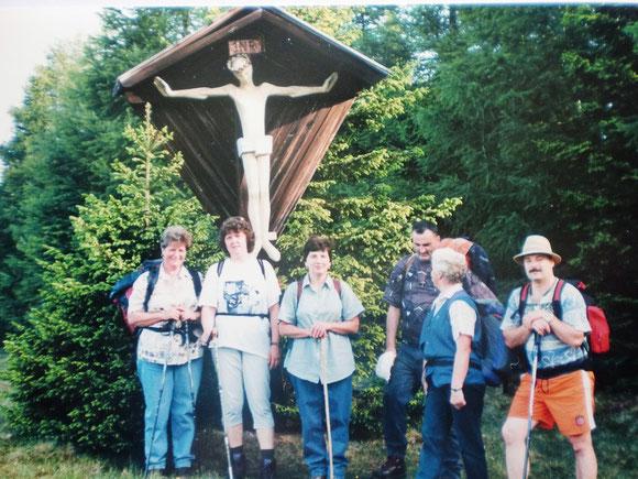 Das war 1998. Ein aufbruch am 6.6. beim Ulibauer Kreuz