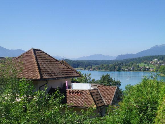 Rückblick zum Faakersee und den Karawanken