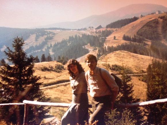 Das war der allererste Aufbruch 1985 am 3. Okt. beim Alten Almhaus. Da scheint der Weg noch schier unmöglich