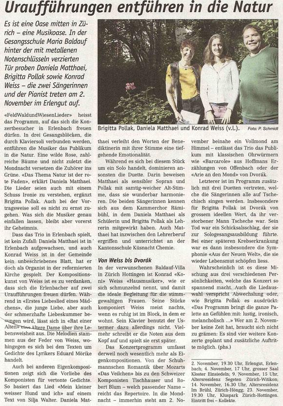 Artikel im Küsnachter vom 26.10.2012