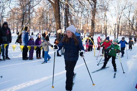 いずれノルウェー初の女王となるイングリッド・アレクサンドラ王女もスキーが大好き Photo: Asaki Abumi