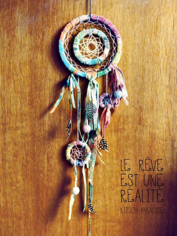 Kitsch, paradise, artisan, créateur, macramé, bijoux, art, dessin, nature, attrape rêves