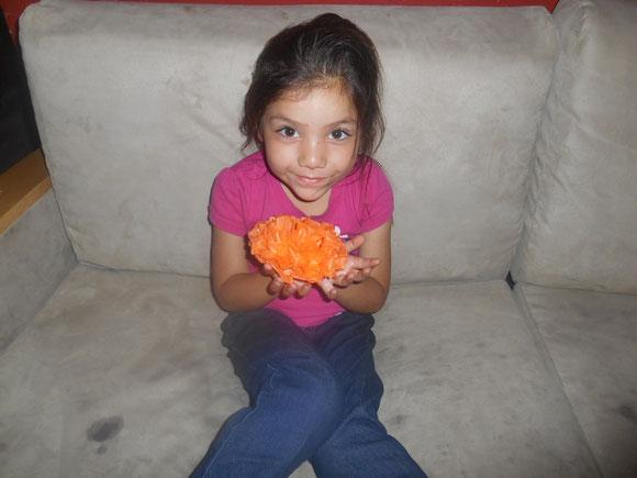 mi Valeria hizo la flor