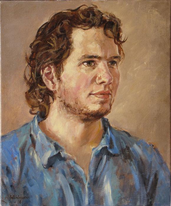 Tony Wahlander (Wåhlander) peint aussi de nombreux portraits, ici celui de Olof.