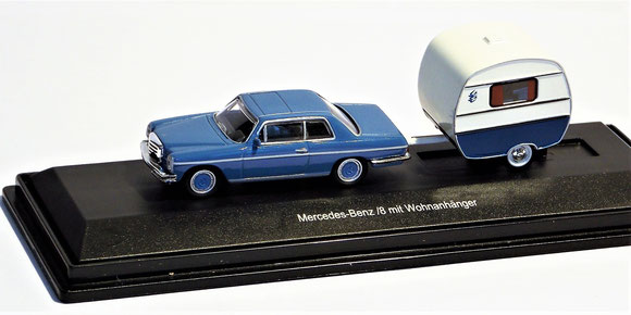 Mercedes Benz /8 mit Wohnanhänger,Schuco 1:87