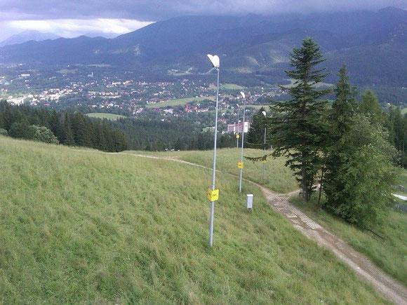 View from 100 meters below lot