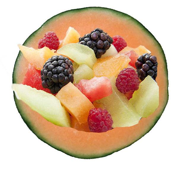 Fruchtsalat mit Melone