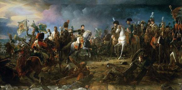 La Bataille d'Austerlitz par François Gérard, 1810, Versailles. Peinture de Francois Gerard