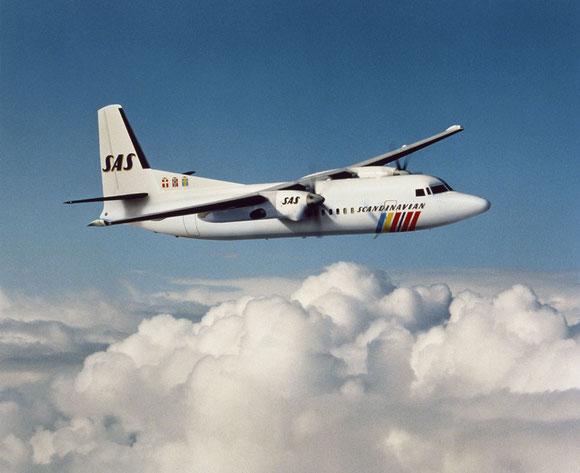 Modellfoto einer Fokker 50 der SAS/Courtesy: SAS/Fokker