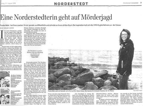 Hamburger Abendblatt vom 21.08.2015