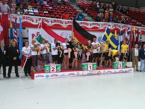 Árpád und Demo - 2. Rang im Team A-Lauf