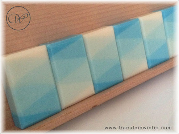 "Seife ""Nevia-Harlekin"" - colour gradient - handmade soap"
