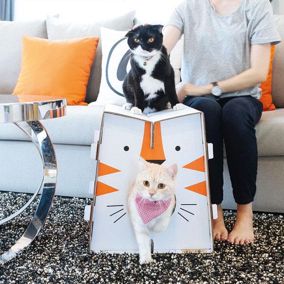Katzenhäuser aus Karton von KAFBO