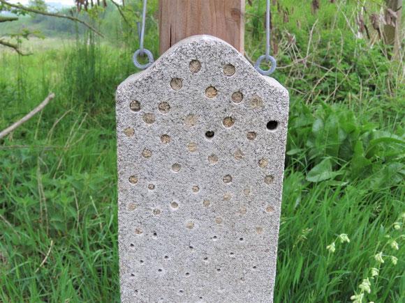 Wildbienen-Nisthilfe aus Holzbeton