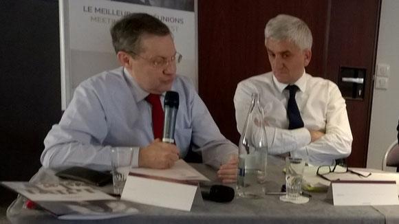 Élection d'Hervé Morin à la présidence du Syndicat mixte du Mont Saint-Michel  et Philippe Bas, 1er vice-président